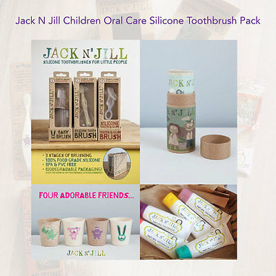 Jack N' Jill Children Oral Care Silicone Toothbrush Pack