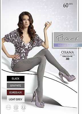 Fiore Oxana 60 Denier Patterned Microfibre Tights S/M/L