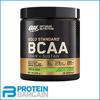 Optimum Gold Standard New BCAA 266 Gram BCAA Amino Train and Sustain - Servings