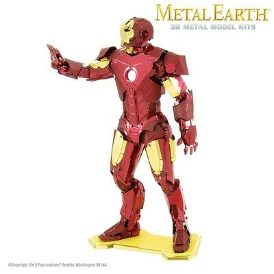 Fascinations Metal Earth Iron Man Marvel Laser Cut 3D Model