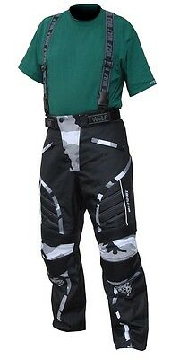Wulfsport Camo Salopettes Wulf Motorcycle  Enduro Off Road Pants Trousers