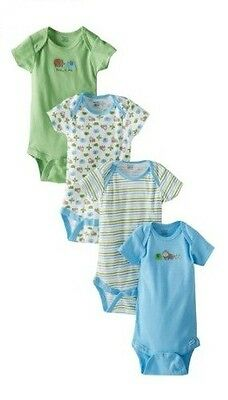 Gerber Baby Boys 4 Pack Variety Onesies Elephants Design Toddler Sizes
