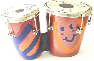 Hand Painted Bongo & flute combo with Euro2016 theme looking awesome & beautiful