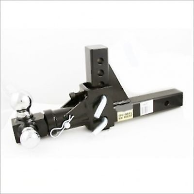 """Adjustable Height 3 Way Spin Swivel Trailer Ball Hitch for 2"""" Receiver"""