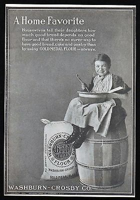 1904 GOLD MEDAL FLOUR Vintage Ad - Bread, Cake, Pastry - 1900's Baking Print Ad