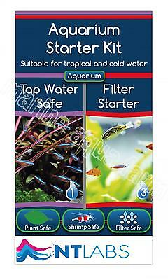 Nt Labs Aquarium Starter Kit - Filter Starter Bacteria, Tap Safe Tropical Cold W