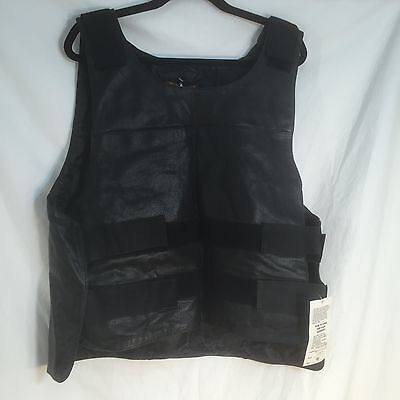 Mens Bullet Proof Style Real Buffalo Leather Motorcycle Vest Size 48