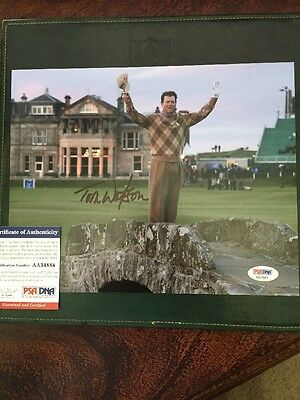 Tom Watson Open PGA Golf Signed PSA 8x10 Photo Palmer Nicklaus Woods Masters