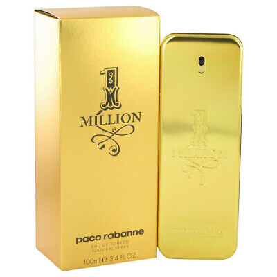 1 Million by Paco Rabanne 3.4 oz 100 ml EDT Cologne Spray for Men New in Box
