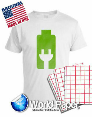 Red Grid Inkjet Light Colored T Shirt Heat Transfer Paper 8.5x11 (50 sheets)