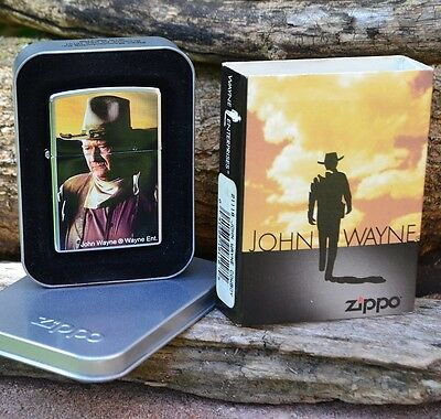 Zippo Lighter - John Wayne Collection - Cowboy - 1972 - The Cowboys - # 21118