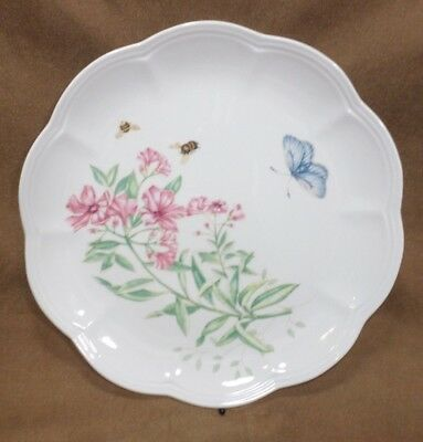 """Lenox China Butterfly Meadow 9"""" Luncheon Pate Display Butterfly Bumble Bees"""