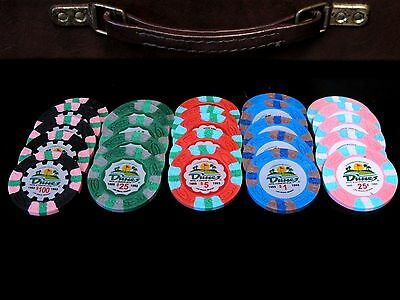 POKER CHIP SET Cash Game 1/2 NO LIMIT Texas Hold Em 2/5 or 5/10 DUNES CASINO