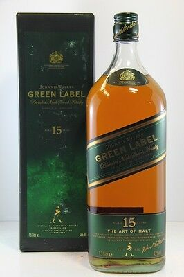 Johnnie Walker 15 Year Old Green Label 1.5ltr Scotch Malt Whisky