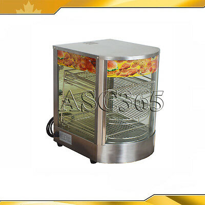 Egg Tart&Pizza Food Display Warmer 110V Cabinet Commercial Wooden Brand New