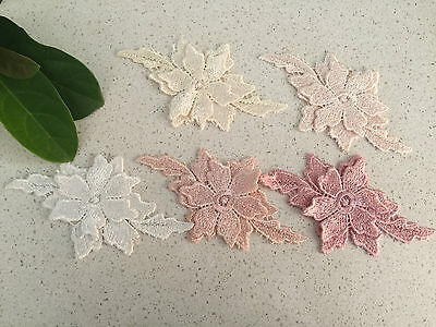 Lace Flower For Embellishments Or  invitation   12.5x7cm