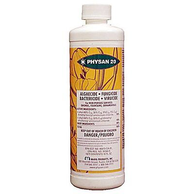 Physan 20 8 oz ounce - fungicide algaecide bactericide concentrate lawn grass