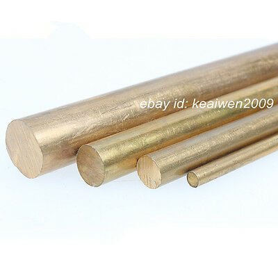"""250mm 0.59/"""" Long H62 Brass Bar Round Rod Cylinder US Stock 15mm Dia 9.84/"""""""