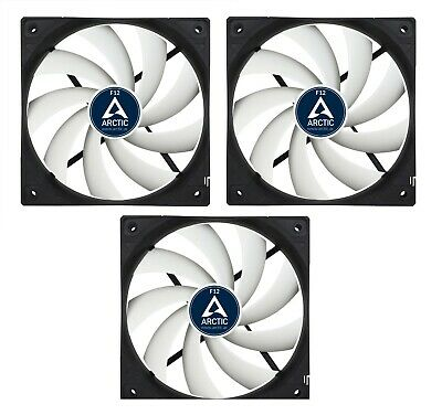 3 Pack of Arctic F12 120mm PC Case Fan - Rev 2 - Silent, High performance