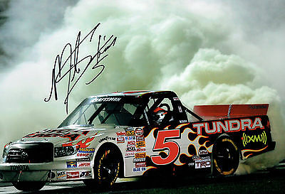 Mike SKINNER SIGNED 12x8 Toyota NASCAR Truck Driver Photo AFTAL COA Autograph
