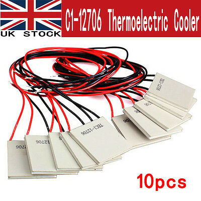 10Pcs 6A TEC1-12706 Thermoelectric Cooler Heat Sink Cooling Peltier Plate Module