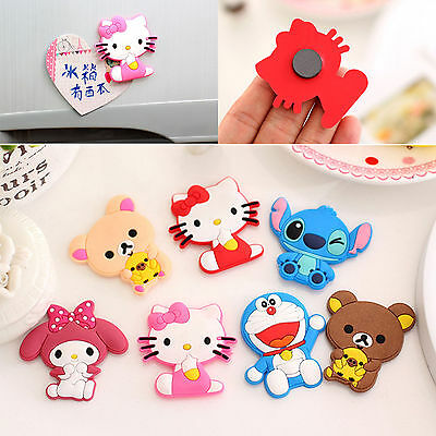 2x Cute Cartoon Animals Fridge Magnet Sticker Refrigerator Gift Home Decor