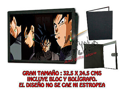 CARPETA GOKU BLACK DRAGON BALL SUPER LONETA NEGRA FOLDER bloc es