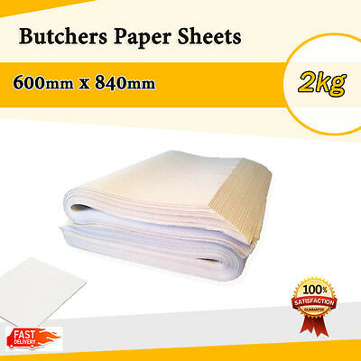 Butchers Paper Sheet 2kg of 600 x 840 FOOD GRADE SAME DAY DISPATCH CHEAP  !!!