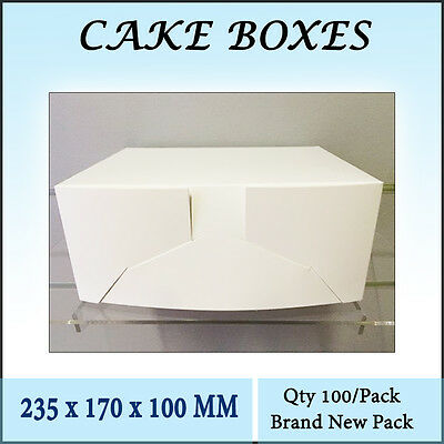 Cake Boxes Mondo Deep 235 x 170 x 100 MM - 100/Pk Cupcake Boxes Cake Boards