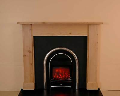 Pine Fire Surround.  Hand made in pine wood. #011