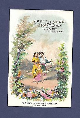 Vintage Bohsemeem Spice Trade Card Weikel Smith Spice Co. Philadelphia