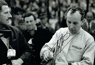 John Surtees SIGNED Racing Champion Photo with Graham Hill AFTAL Autograph COA