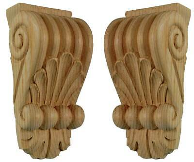 Classical Corbels (Pair) #718  in pine wood
