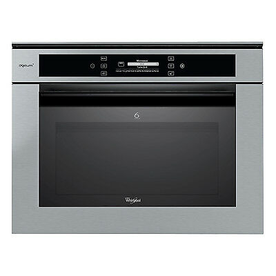 Whirlpool 6th Sense AMW 848/IXL Built-in Microwave Oven 40L Stainless Steel New