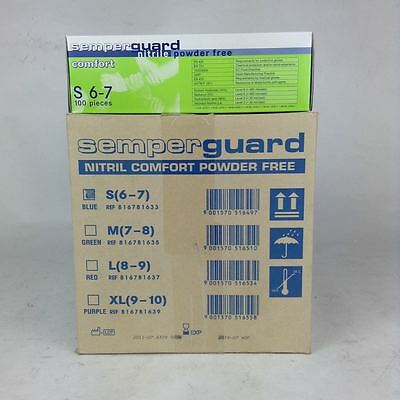 Semperguard 816781633 Nitrile Protect Gloves S NFP (1000 pieces)