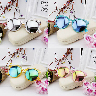 Stylish Baby Boys Kids Color Film Sunglasses Goggles Glasses Cool Anti-UV400