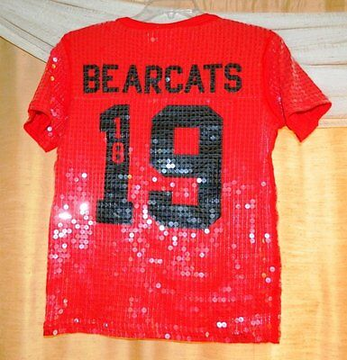 LIMITED EDITION PINK Victoria's Secret NFL Sequins Jersey CINCINNATI BEARCATS BN