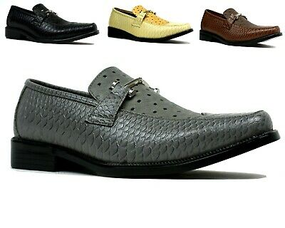Men Slip On Shoes Smart Wedding Italian Style Formal Office Dress Work Shoe