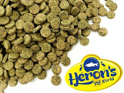 HERONS Premium Vegetable Tablets TROPICAL FISH FOOD Algae Adhesive Wafers