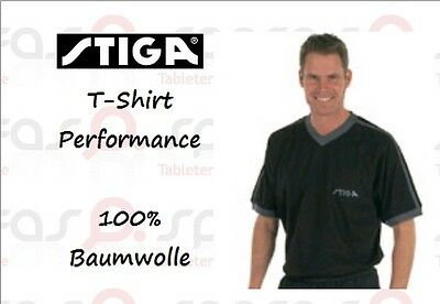 NICE PRICE --> STIGA T-Shirt Performance black/grey 100% Baumwolle - neu