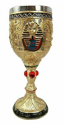 "7.25""h Ancient Egyptian Legend Egypt King Tut Wine Goblet Chalice Beverage Cup"