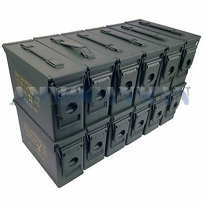 SIX 50 Cal M2A1/& SIX 30 Cal M19A1 AMMO CANS 12 NEW BLANK COMBO CANS