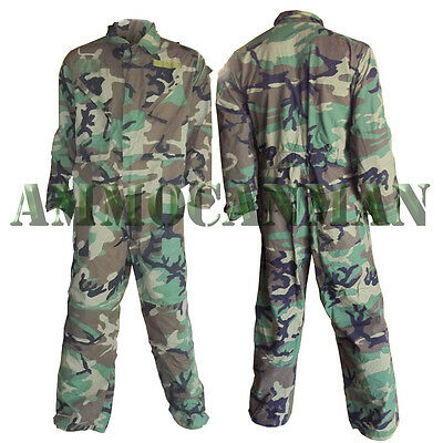 US Military Mechanics Coveralls Woodland Camo NEW Unissued