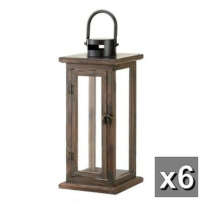 6 rustic wood lantern large tall candle holder wedding