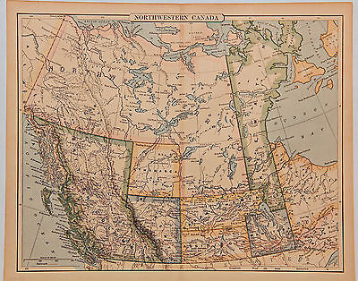 1889-1895, Western Canada.  Presentable map with very Different Boundaries.