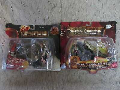 2 Pirates of Caribbean Action Figures Deluxe Zizzle At World's End