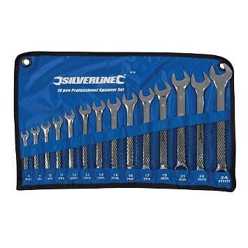 Silverline Combination Spanner Set 14pce 8 - 24mm  SP52 W1C10