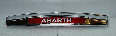 Classic Fiat Abarth Number Plate Lighting 500 Chromed Plastic High Quality