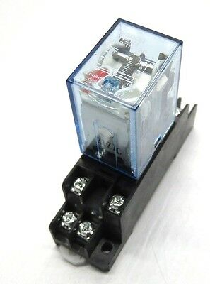 Omron MY2NJ 100/110VAC Relays w/  Socket Base