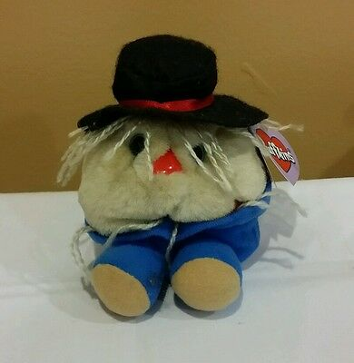 Puffkins 1999 Patches the Scarecrow Mini Plush Beanie #6695, New & Retired